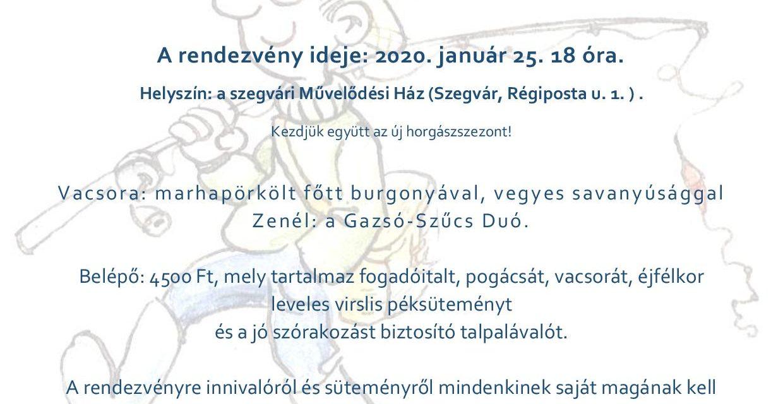 HORGÁSZBÁL – 2020.01.25